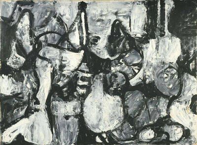 Charlotte Park, 'Untitled (Black, White, and Gray)', ca. 1950