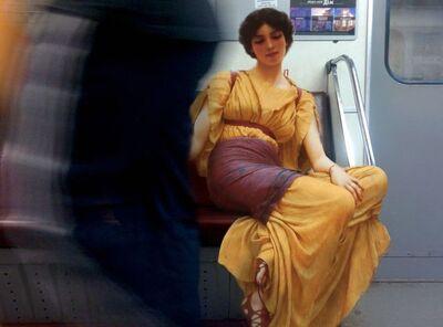 Alexey Kondakov, 'John William Godward «Idleness». Teremki metro station', 2016