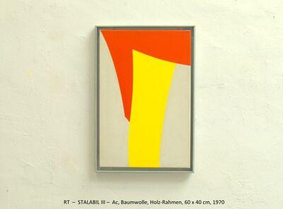 Rainer Tappeser, 'STALABIL III', 1971