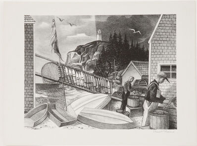 Ernest Fiene, 'Fishermen Monhegan', ca.1930