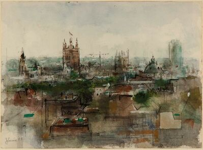 Jack Levine, 'Parliament from Picadilly Hotel', 1983
