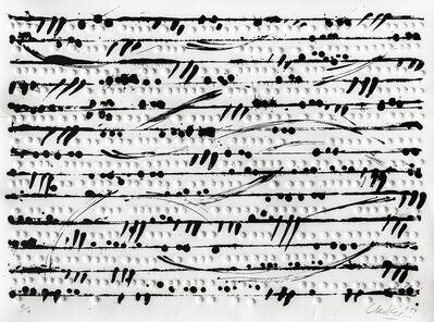 Günther Uecker, 'Optische Partitur I', 2014