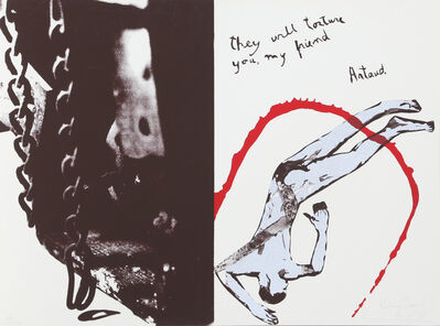 Leon Golub, 'They Will Torture You, My Friend from Conspiracy: The Artist as Witness', 1971