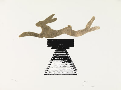 Barry Flanagan, 'Leaping hare', 1991