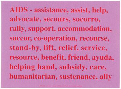 Kay Rosen, 'Aids', 1994