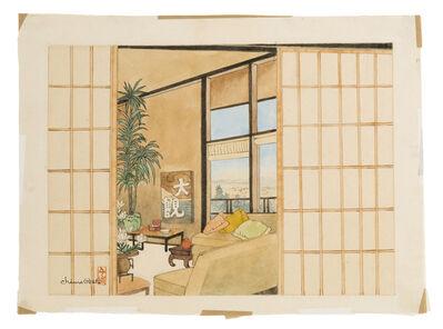 Chiura Obata, 'Interior of a Japanese-style house'