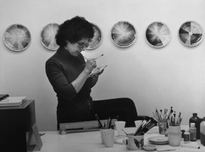 "Judy Chicago, 'Judy Chicago in ""The Dinner Party"" China Painting Studio', 1975"