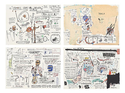 Jean-Michel Basquiat, 'Portfolio (4 Works): King Brand, Undiscovered Genius, Dog Leg, Wolf Sausage', 1982-1983