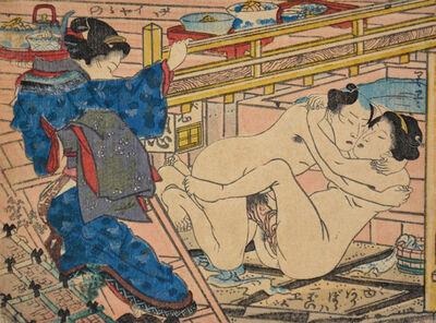 Utagawa Toyokuni III (Utagawa Kunisada), 'After Hot Bath', ca. 1850