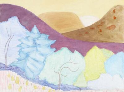 Sally Michel, 'Hills and Trees ', 1980