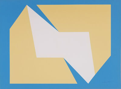 Charles Hinman, 'Tan on Blue', 1972
