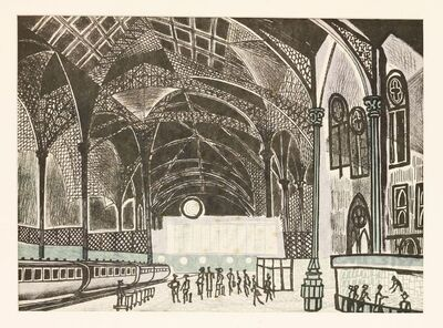 Edward Bawden, 'LIVERPOOL STREET STATION'
