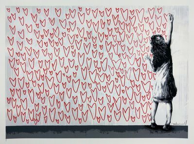 Martin Whatson, 'Less is More, Red Hearts Original', 2014
