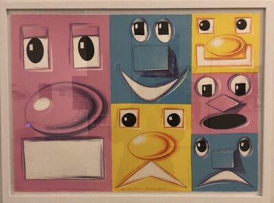 Kenny Scharf, 'Horizontal Blockheads', 2016