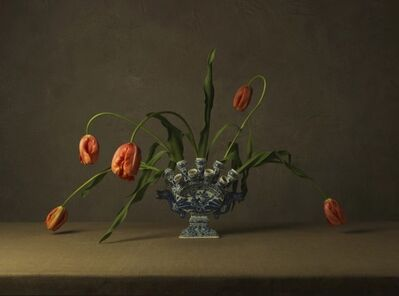 Marie Cecile Thijs, 'Vase and Orange Tulips', 2015
