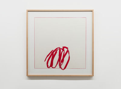 Jill Baroff, 'Floating Line Drawing: Red Roll', 2011