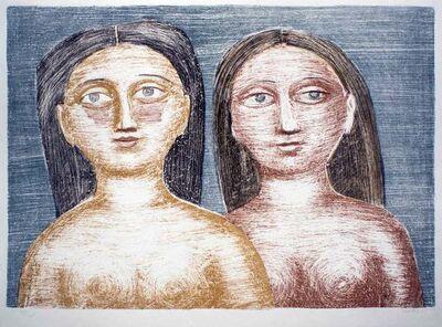 Massimo Campigli, 'Due Nudi', 1952