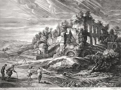 Schelte Adams Bolswert, 'Landscape with the Ruins of Mount Palatine in Rome', ca. 1600s