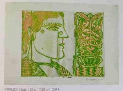 """Laxma Goud, 'Untitled, Intaglio, Etching on Paper by Modern Artist """"In Stock""""', 2014"""