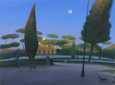 Nicholas Hely Hutchinson, 'The Rising Moon, Borghese Gardens', 2017