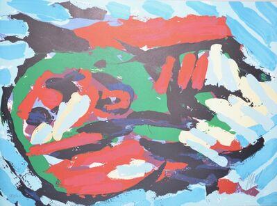 Karel Appel, 'Flying head over ocean', 1972