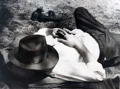Vivian Maier, 'Man with Hat Sleeping'