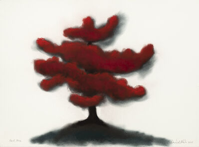 David Nash, 'Red Tree (#1)', 2018