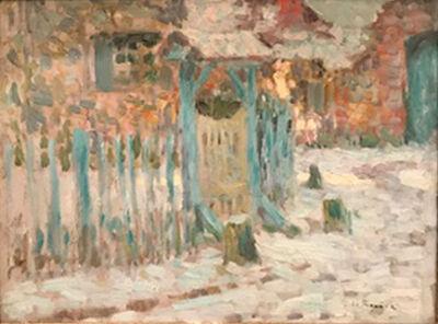 Henri Eugène Le Sidaner, 'Brittany Village in Winter', unknown