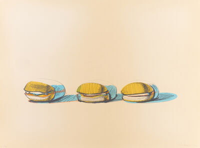 Wayne Thiebaud, 'Barbecue Beefs (from Seven Still Lifes and a Silver Landscape)', 1970