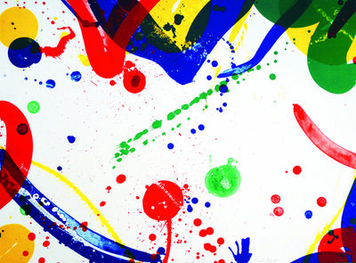 Sam Francis, 'Green and Red', 1966