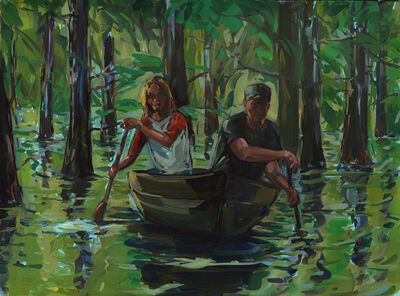 Eyal Sasson, 'Couple rowing a boat', 2012