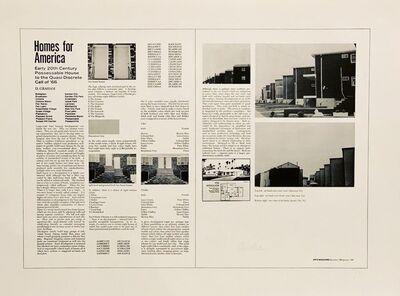 Dan Graham, 'Homes for America', 1971