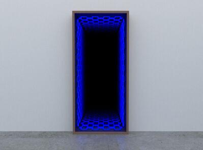 Iván Navarro, 'Ladrillo Vertical NORMAL BLUE', 2020