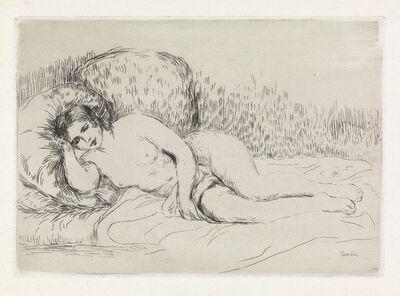 Pierre-Auguste Renoir, 'Femme nue couché (tournée à droite), 1re planche * Femme couchée (tournée à gauche)', 1906