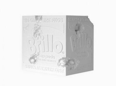 Daniel Arsham, 'Eroded Brillo Box (white)', 2020