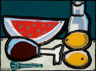 America Martin, 'Watermelon, Chicken Leg & Fork', 2016