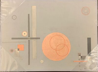Rolph Scarlett, 'Untitled (Pink Circles with Squares on Gray Ground)', ca. 1943