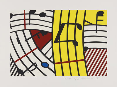Roy Lichtenstein, 'Musical Notes (Composition IV)', 1995