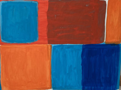 Janet Sawyer, 'Color Immersion orange and blue', 2020