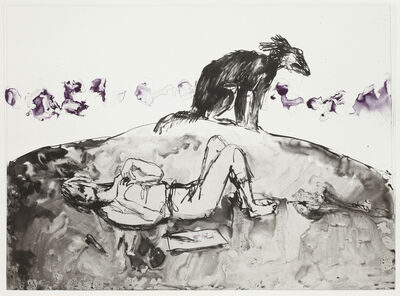 Quentin Blake, 'Girls and Dogs IV', 2012