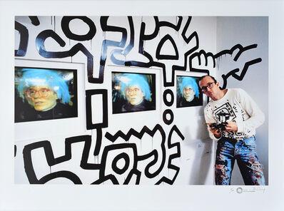 Tseng Kwong Chi, 'Keith Haring at the Pop Shop', 1985