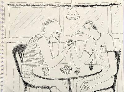 Mindy Alper, 'Untitled (arm wrestling)', n.d.