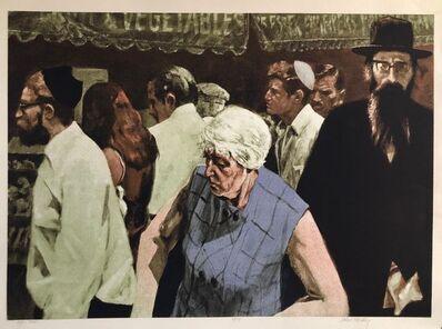 John Hardy, '1970's New York City Jewish Street Scene Signed Judaica Pop Art Lithograph ', 20th Century