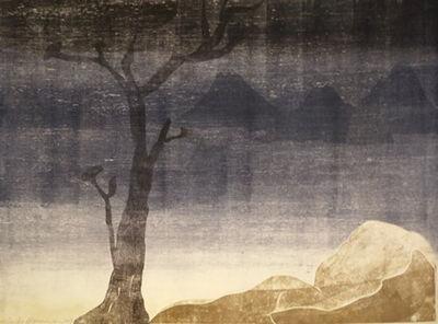 Leiko Ikemura, 'Paisajes con el monte Fuji 15', 2015
