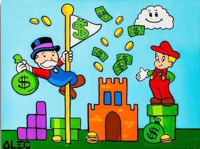 Alec Monopoly, 'Super Monopoly and Mario in Mario World', 2020