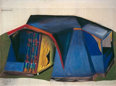 """Markus Lüpertz, '""""Zelt – dithyrambisch (Tent - dithyrambic)""""', 1965"""