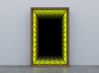 Iván Navarro, 'Double Diamond YELLOW-GREEN', 2020