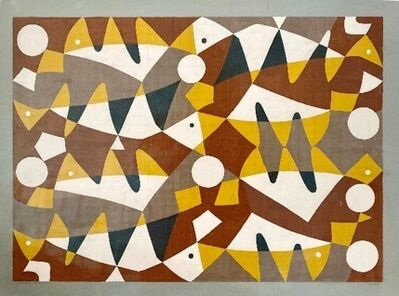 Carlos Merida, 'Project for mural in the garden of the house of Mr. Piccioto, Guatemala', 1958