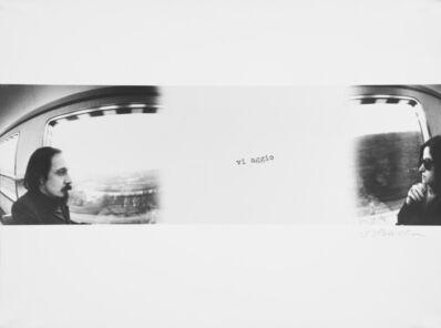 Luca Maria Patella, 'Autofoto viaggiante: L. & R. sulla Copenhagen-Parigi', 1975