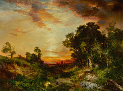 Thomas Moran, 'Sunset, Amagansett', 1905